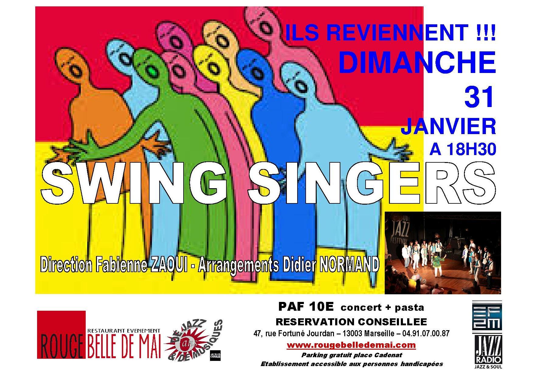 Swing singers au rouge 2016